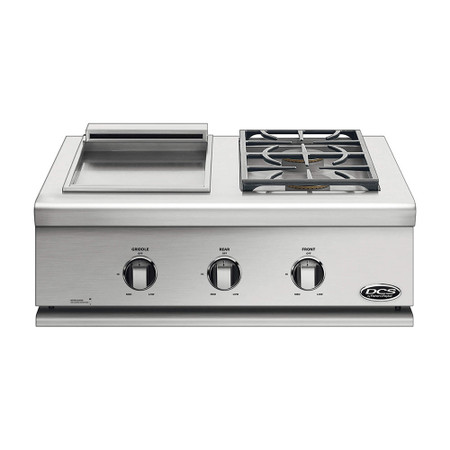 DCS 30 Inch Liberty Griddle/Sideburner for Built-In or On Cart Applications