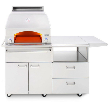 Lynx Napoli Outdor Oven and 54 Inch Mobile Kitchen Cart