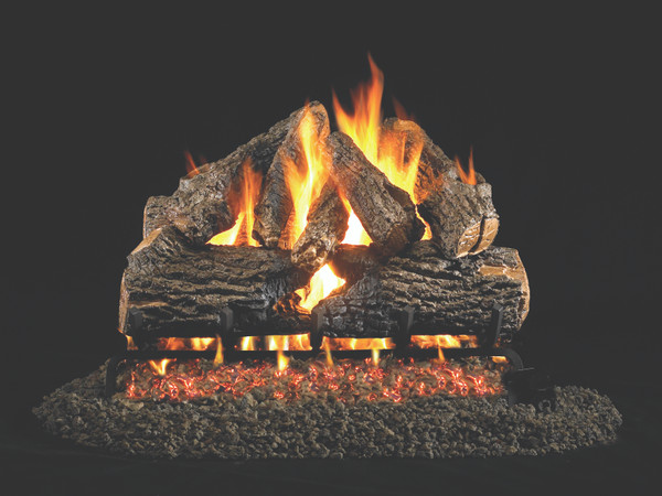 Real Fyre Charred Oak Vented Gas Logs (CHD-18/20), 18-Inch