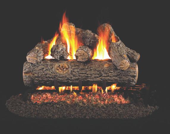 Real Fyre Golden Oak Designer Plus Vented Gas Logs (RDP-24), 24-Inch