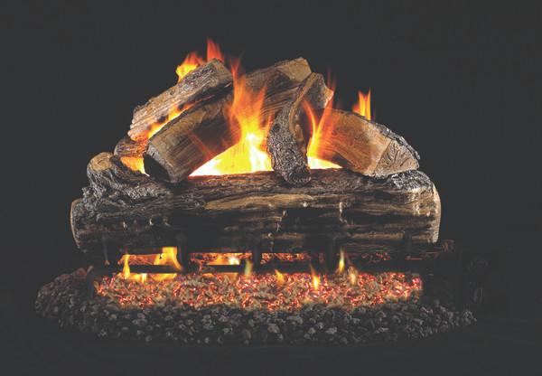 Real Fyre Split Oak Vented Gas Logs (S-24), 24-Inch