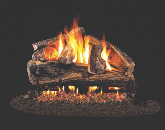 Real Fyre Rugged Split Oak Vented Log Set (RRSO-24), 24-Inch