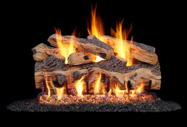 Real fyre Gnarled Split Oak Vented Log Set (GO-24), 24-Inch