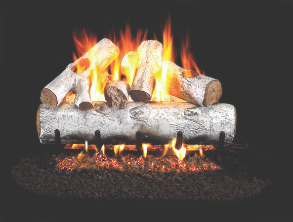 Real Fyre Standard White Birch Vented Gas Logs (W-24) - 24 Inch
