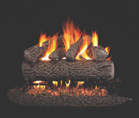 Real Fyre Post Oak Vented Gas Logs (PO-30), 30-Inch