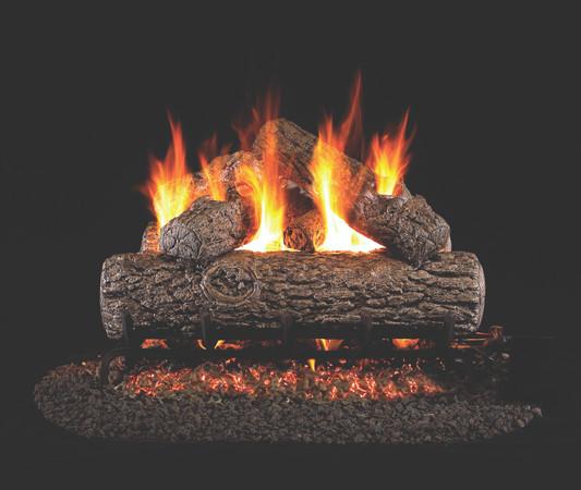 Real Fyre Golden Oak Vented Gas Logs (R-24), 24-inch