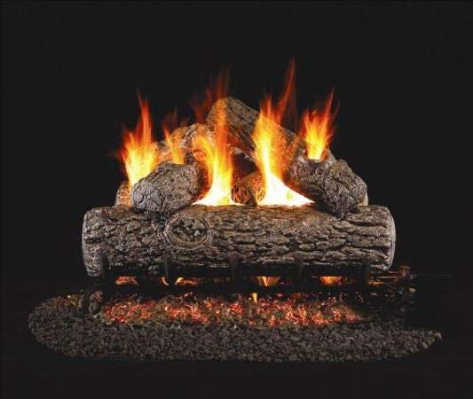 Real Fyre Golden Oak Vented Gas Logs (R-20), 20-Inch
