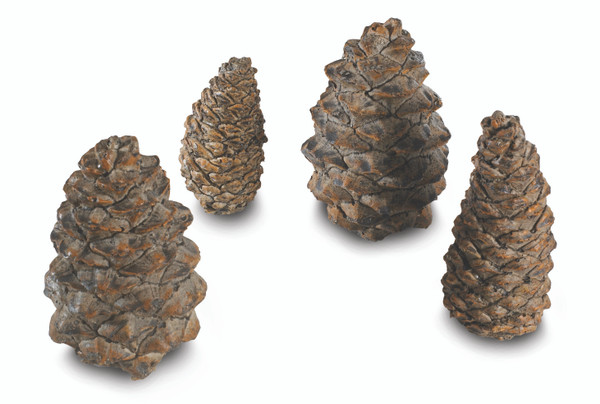 Real Fyre Designer Ceramic Pine Cones In Assorted Sizes - Set Of 4