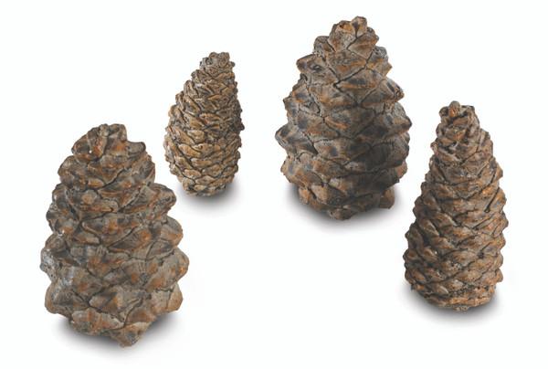 Real Fyre Designer Ceramic Pine Cones In Assorted Sizes - Set Of 4