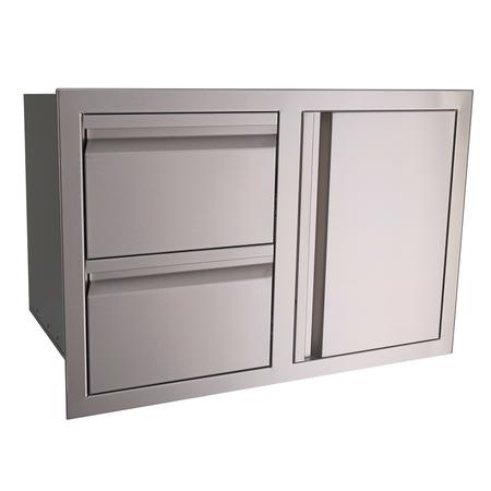RCS Valiant Stainless Double Drawer/Door Combo