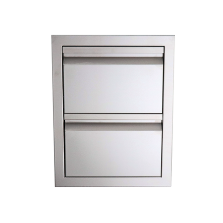 RCS Valiant Stainless Double Drawer-Fully Enclosed