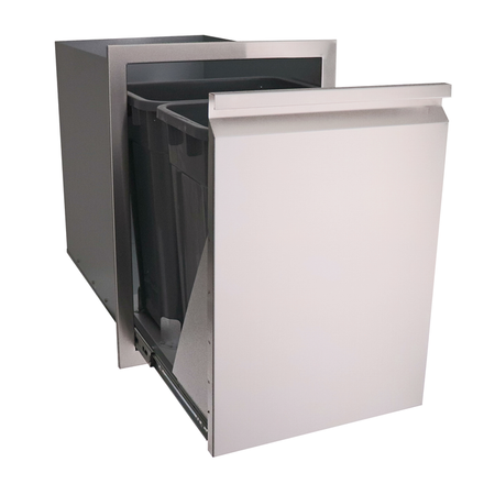 RCS Valiant Stainless Double Trash Drawer-Fully Enclosed