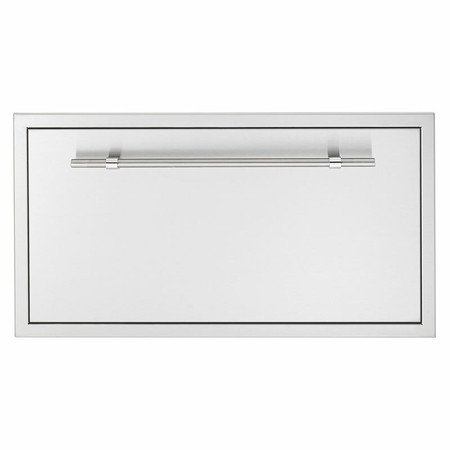 "AMG 36x20"" North American Stainless Steel Extra Large Storage Drawer w/ Matching AMG Handle (SSDR1-36AMG)"