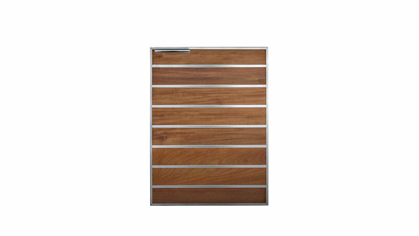 "Madera 20"" Integrated North American Stainless Steel & Ipe Vertical Access Door (SSMDV-20-IP)"