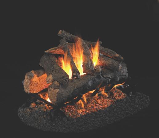 Real Fyre See-Thru American Oak Vented Gas Logs (AO-2-24), 24-Inch