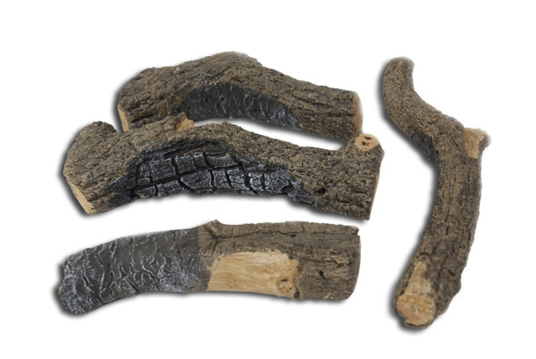 Real Fyre Charred Branches - Set of 4