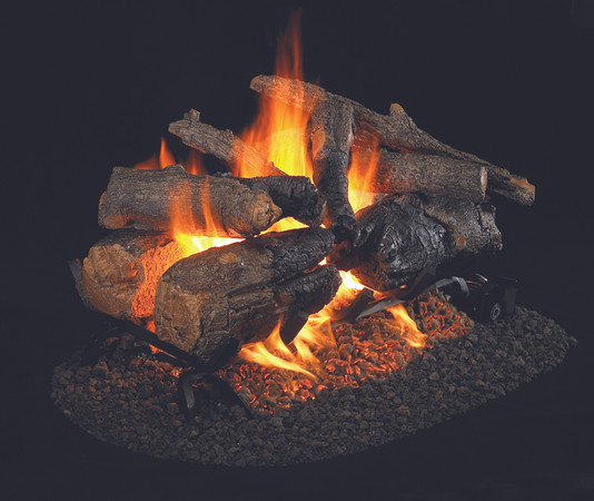 Real Fyre See-Thru Charred American Oak Vented Gas Logs (CHAO-2-24), 24-Inch