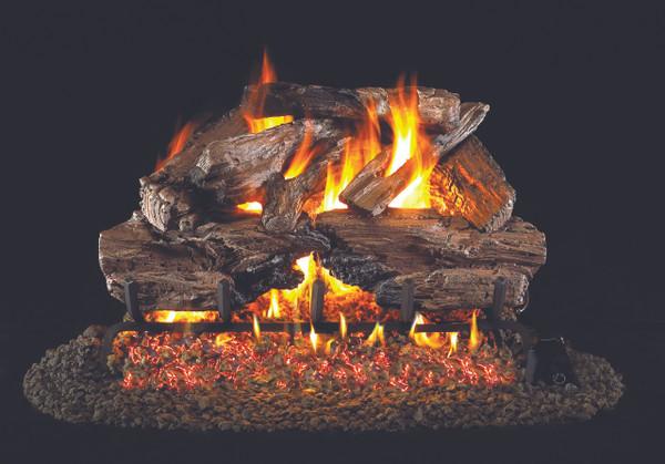 Real Fyre Charred Cedar Vented Gas Logs (CHCR-24), 24-Inch
