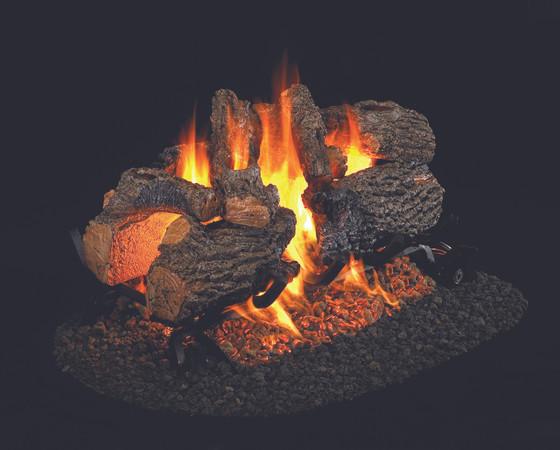 Real Fyre See-Thru Charred Oak Vented Gas Logs (CHD-2-19), 19-Inch