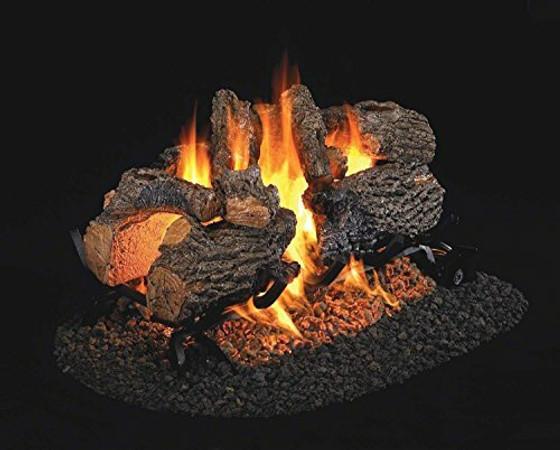 Real Fyre See-Thru Charred Oak Vented Gas Logs (CHD-2-24), 24-Inch