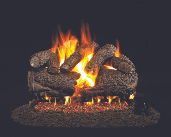 Real Fyre Charred Forest Oak Vented Gas Logs (CHF-24), 24-Inch
