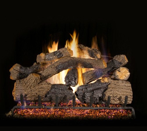Real Fyre Charred Grizzly Oak Vented Gas Logs (CHGO-30), 30-Inch
