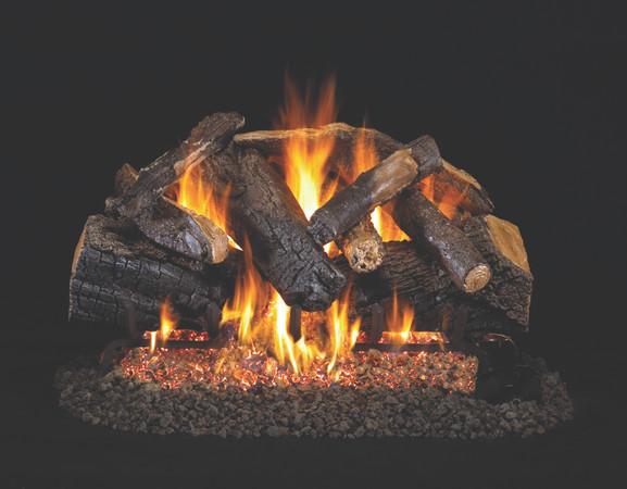 Real Fyre Charred Majestic Oak Vented Log Set (CHMJ-24), 24-Inch