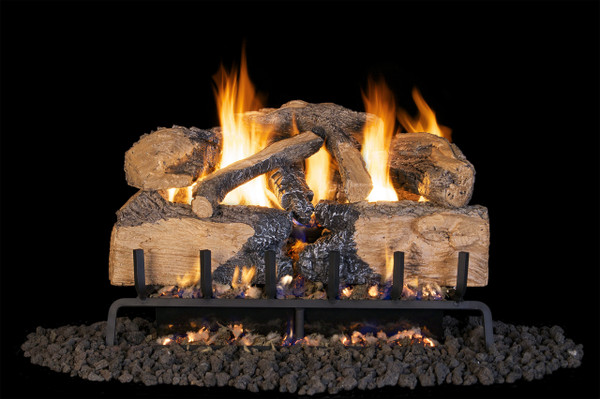 Real Fyre Charred Angel Split Oak Vented Gas Logs (CHNS-24), 24-Inch