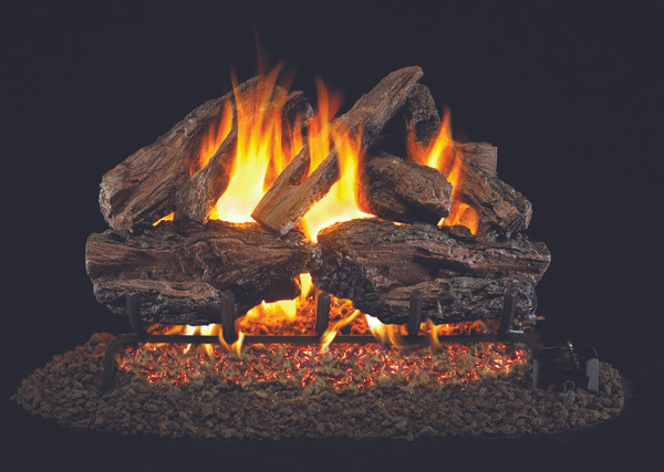 Real Fyre Charred Red Oak Vented Gas Logs (CHRED-24), 24-Inch