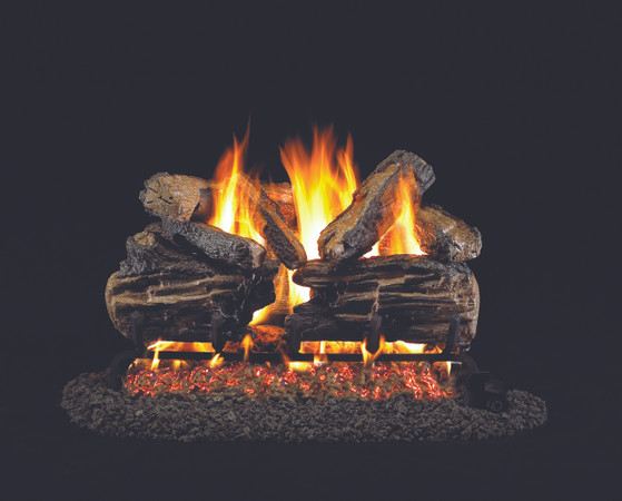 Real Fyre Charred Split Vented Gas Logs (CHS-24), 24-Inch