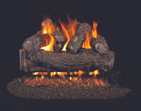 Real Fyre Forest Oak Vented Gas Logs (FO-30), 30-Inch