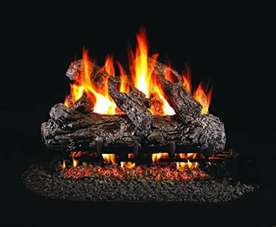 Real Fyre Rustic Oak Vented Gas Logs (HR-16), 16-Inch