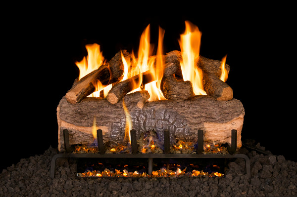 Real Fyre Mountain Crest Oak Vented Gas Logs (MCO-39), 39-Inch