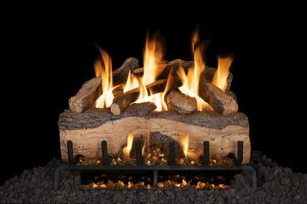 Real Fyre Mountain Crest Split Oak Vented Gas Logs (MCS-24), 24-Inch