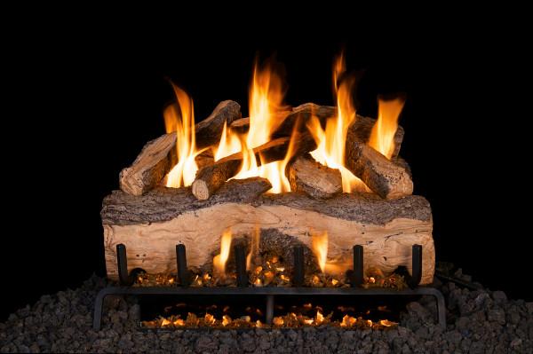 Real Fyre Mountain Crest Split Oak Vented Gas Logs (MCS-39), 39-Inch
