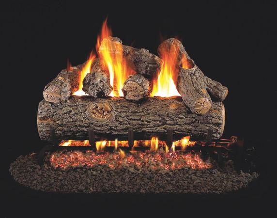 Real Fyre Golden Oak Designer Plus Vented Gas Logs (RDP-20), 20-Inch
