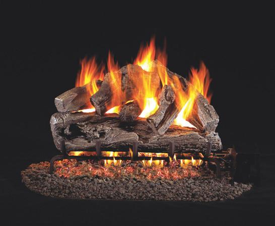 Real Fyre Rugged Oak Vented Gas Logs (RRO-24), 24-Inch