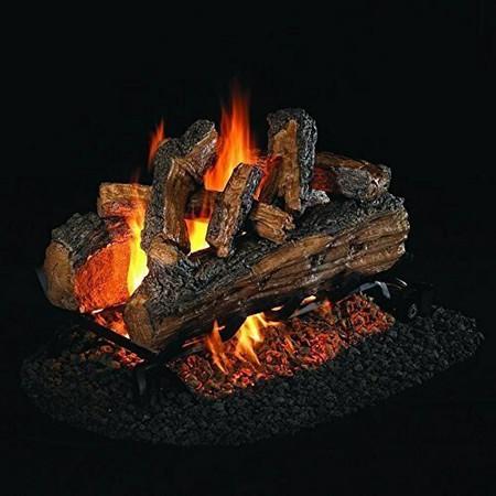 Real Fyre See-Thru Split Oak Designer Plus Vented Gas Logs (SDP-18), 18-Inch