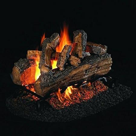 Real Fyre See-Thru Split Oak Designer Plus Vented Gas Logs (SDP-24), 24-Inch