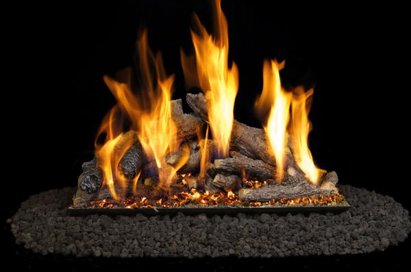 Real Fyre Shoreline Designer Oak Vented Gas Logs (SO-18), 18-Inch