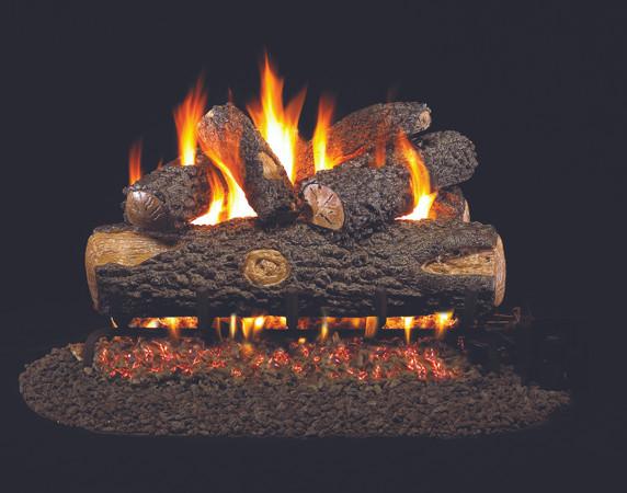 Real Fyre Woodland Oak Vented Gas Logs (WO-24), 24-Inch
