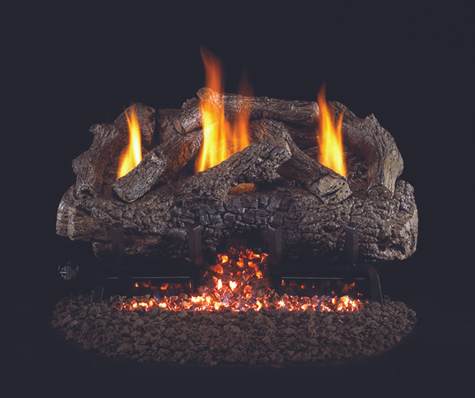 Real Fyre Charred Frontier Oak Vent-Free Gas Logs (CHFR-24), 24-Inch
