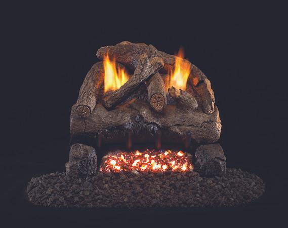 Real Fyre Evening Fyre Vent-Free Gas logs (EFV-16/18), 18-Inch