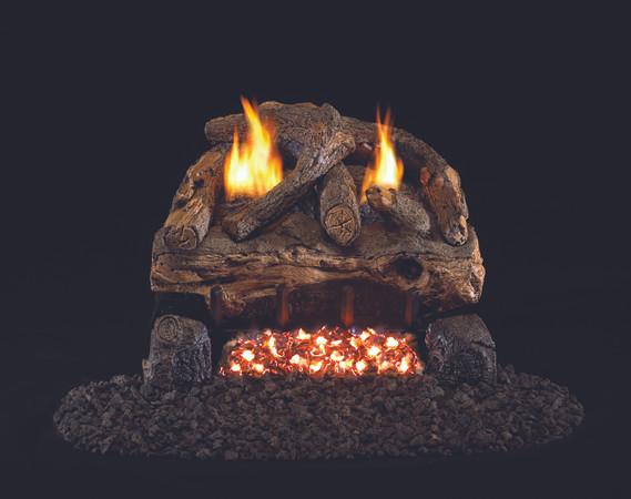 Real Fyre Evening Fyre Split Vent-Free Gas Logs (ESV-16/18), 18-Inch