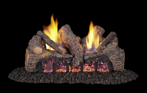 Real Fyre Foothill Oak Vent-Free Gas Logs (FTO-18), 18-Inch