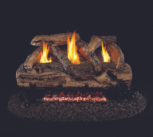 Real Fyre Split Oak Vent-Free Gas Logs (S9-24), 24-Inch