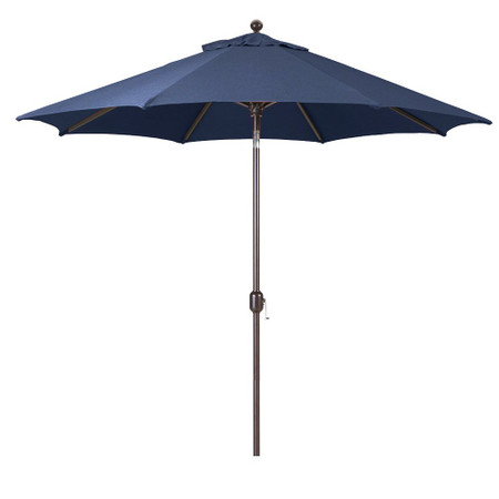 Galtech 9-Foot (Model 737) Deluxe Auto-Tilt Umbrella with Antique Bronze Frame and Sunbrella Fabric Navy
