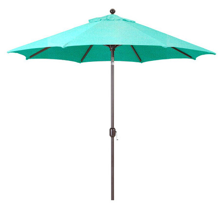 Galtech 9-Foot (Model 737) Deluxe Auto-Tilt Umbrella with Antique Bronze Frame and Sunbrella Fabric Aruba