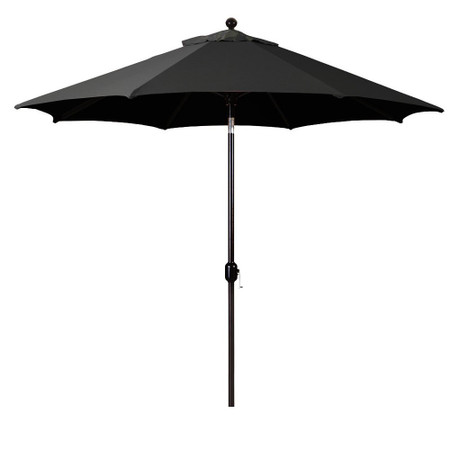 Galtech 9-Foot  (Model 737) Deluxe Auto-Tilt Umbrella with Bronze Frame and Sunbrella Fabric Black
