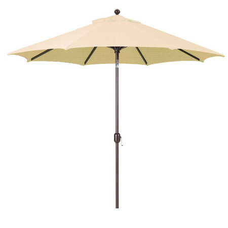 Galtech 9-Foot (Model 737) Deluxe Auto-Tilt Umbrella with Antique Bronze Frame and Sunbrella Fabric Antique Beige